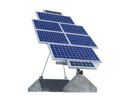 solar panel farm high detaile 3d