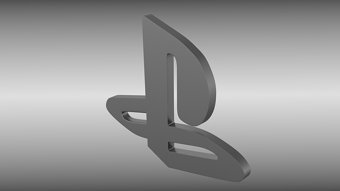 Playstation logo 3d cgtrader - High resolution playstation logo ...