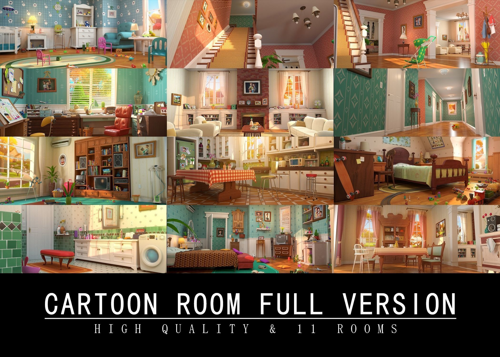 Cartoon Room Interior Full Version