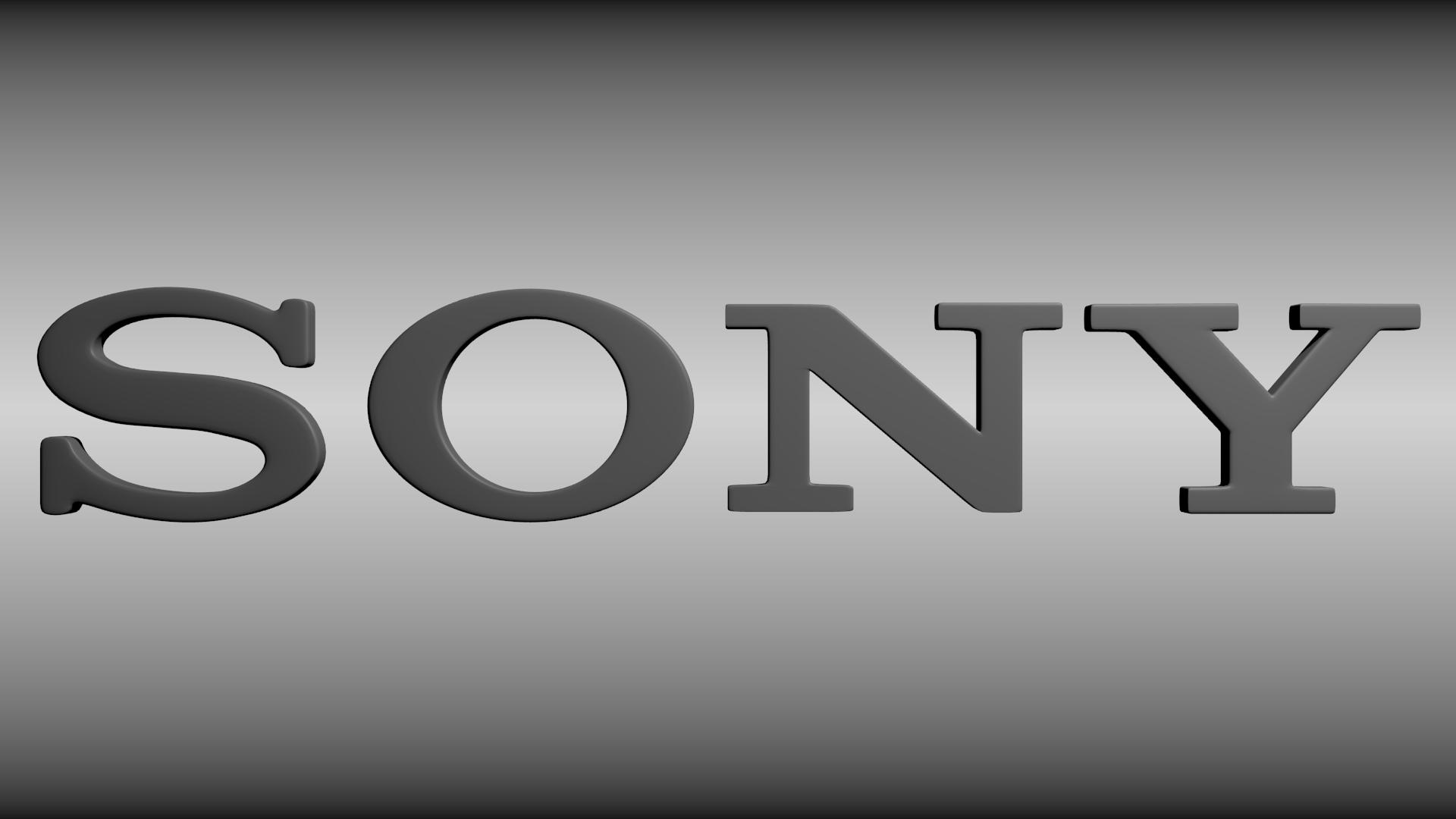 sony logo 3d model   cgtrader