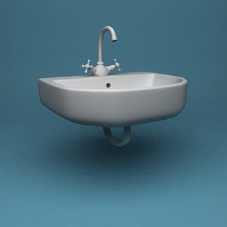 bathroom sink free 3d model max