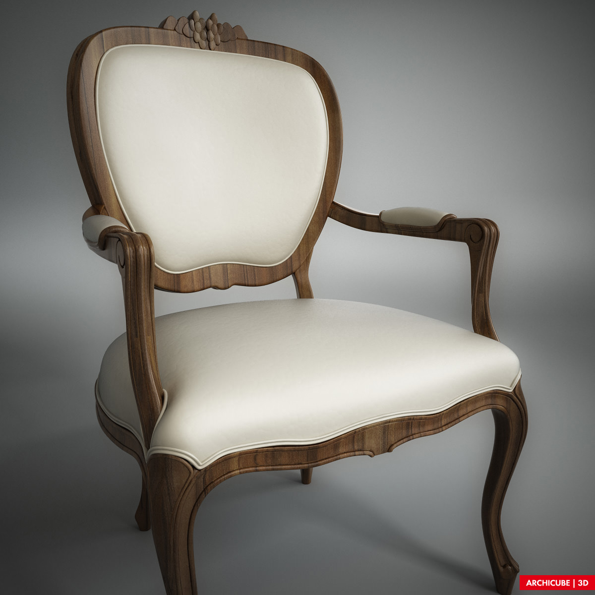 Classic chair 004 3d model max obj fbx for Model furniture