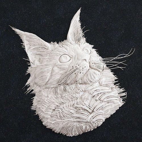 Jewelry pendant Cat Head 1