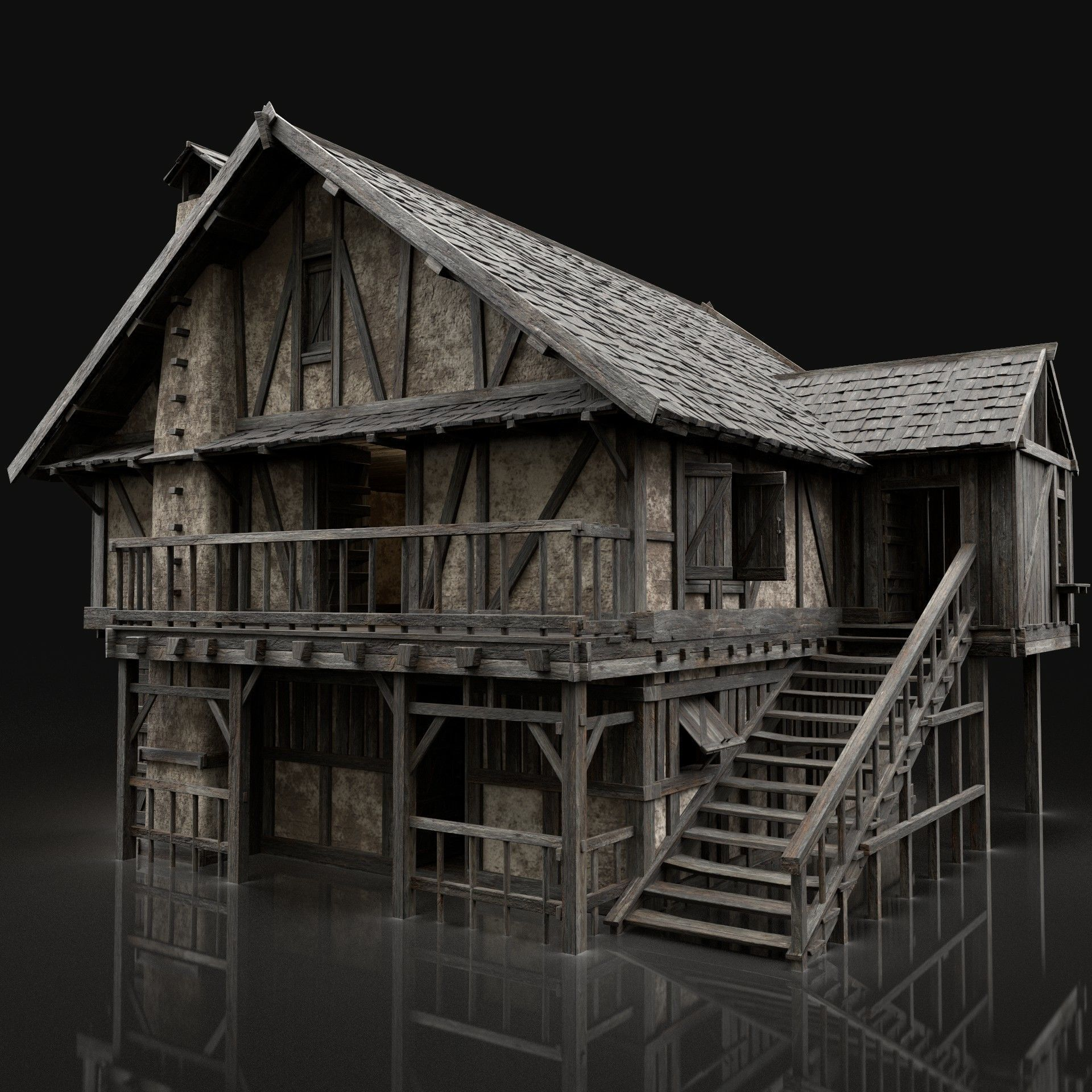 ENTERABLE AAA NEXT GEN MEDIEVAL CITY TOWN HOUSE VILLAGE