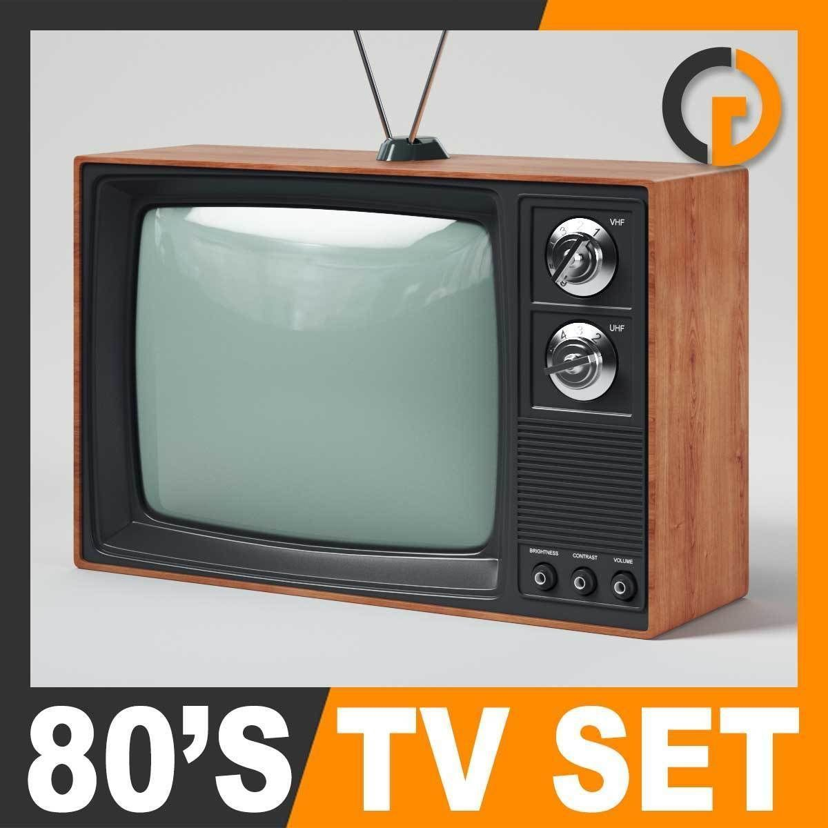 Retro 80s Television Set