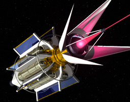 3d model laser spacecraft