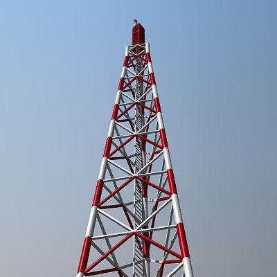Radio Tower 3d Cgtrader