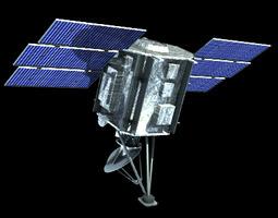 3d model quik scat satellite