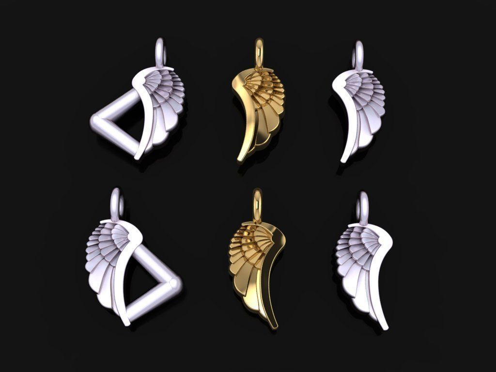 ANGEL WING DOUBLE SIDES PENDANT SMALL SIZE