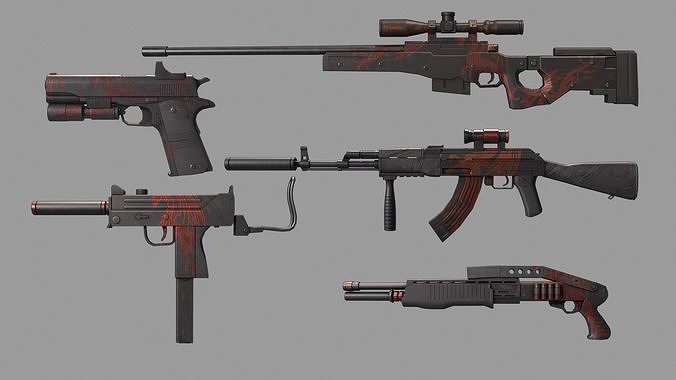 Gun collection Red Dragon