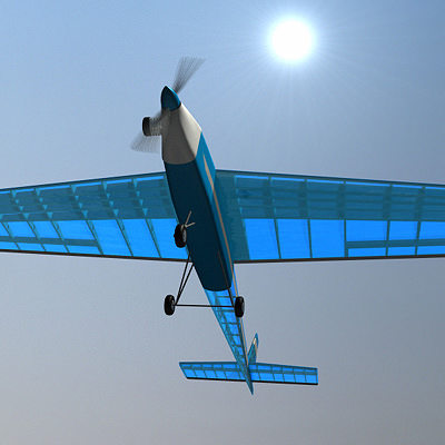 rc airplane 3d model lwo lw lws 2