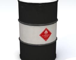 Flammable 55 Gallon Drum 3D