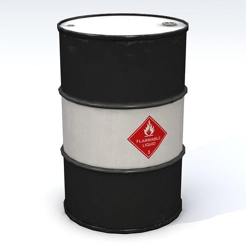 flammable 55 gallon drum 3d model obj 3ds fbx lwo lw lws blend mtl 1