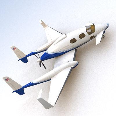 scifi future general aviation 3d model 3ds lwo lw lws 1