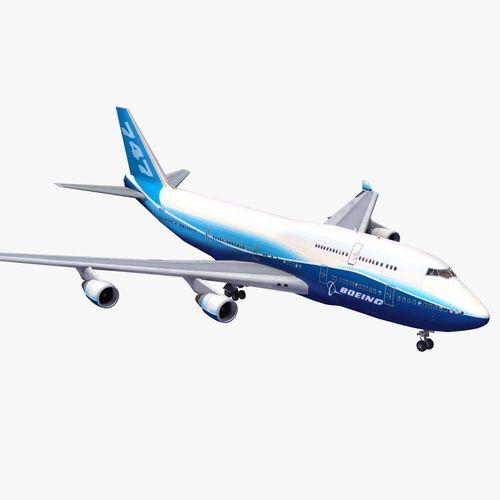 747 jumbo jet 3d model max obj 3ds lwo lw lws ma mb hrc xsi 1