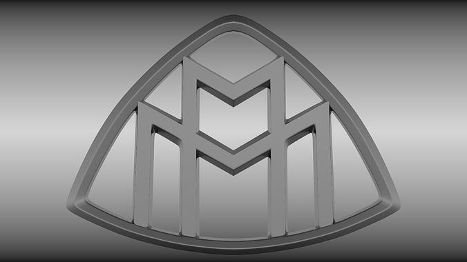 Luxury Vehicles Logo: 3D Maybach Logo