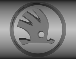3d skoda logo