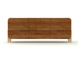Contemporary Wooden Cabinet 3D Model