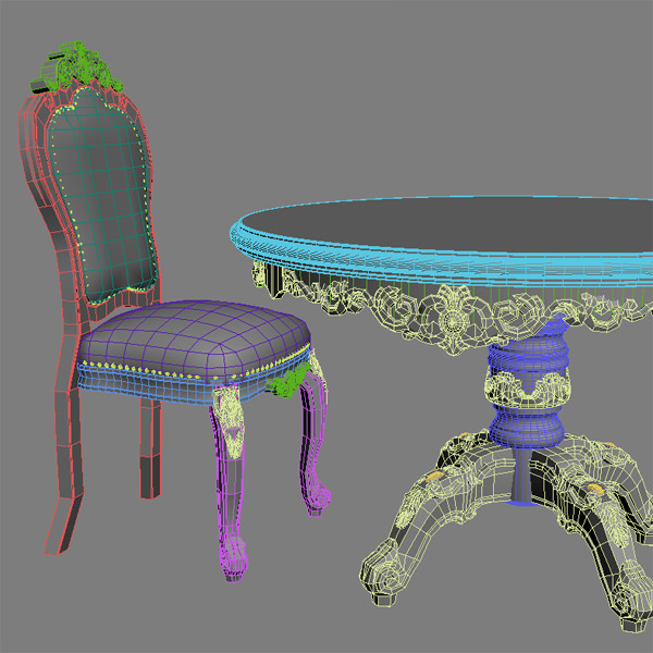 Baroque Style Table and Chairs 3D Model MAX OBJ 3DS MTL  : baroque style table and chairs 3d model max obj 3ds from www.cgtrader.com size 600 x 600 jpeg 104kB