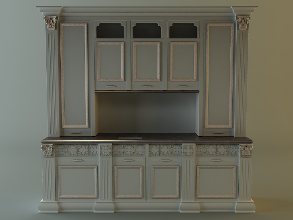 oven 3D Kitchen cabinet | CGTrader