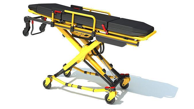 Ambulance Unfolded Gurney Stretcher