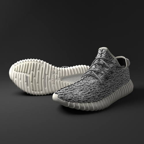yeezy 350 low 3d model max obj fbx c4d stl blend 1
