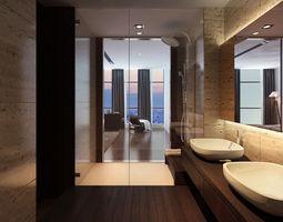 3D Bathroom shower bath