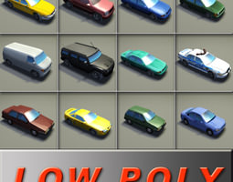 12 Vehicle Game Collection 3D asset