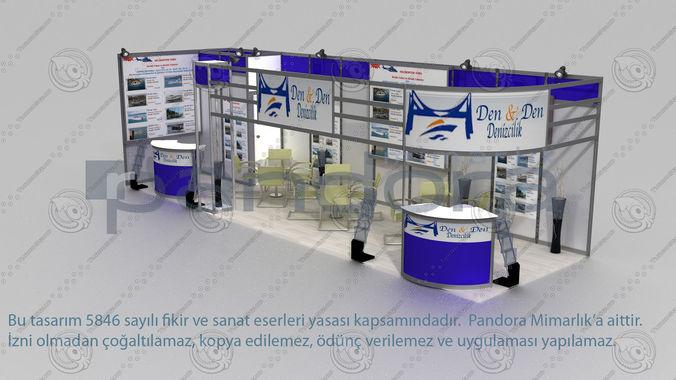 Exhibition Stand Design 3d Max : Den exhibition stand design d cgtrader
