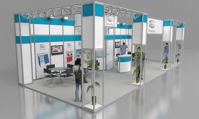 er metal exhibition stand design 3d model  1