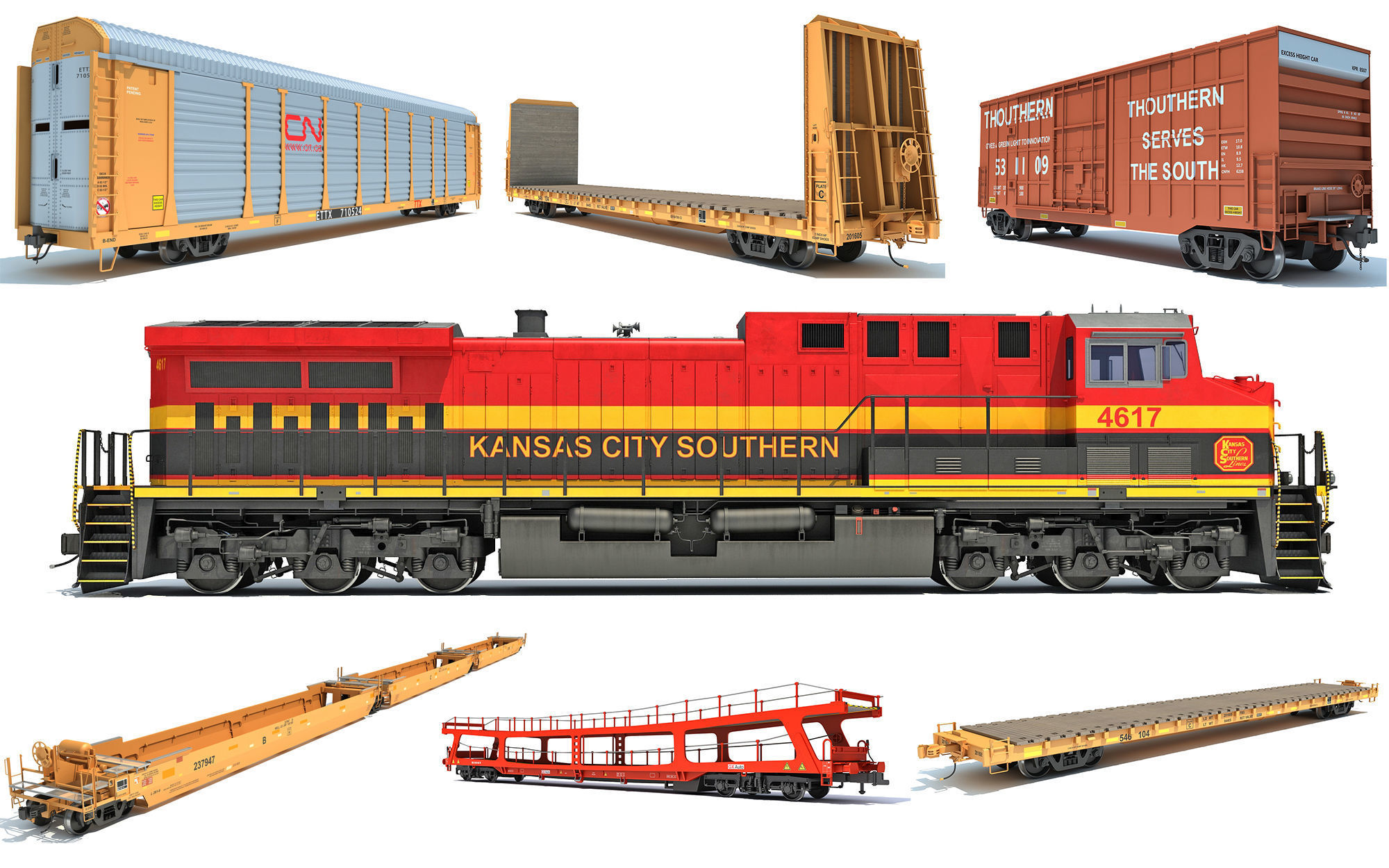 Kansas City Southern Freight Train