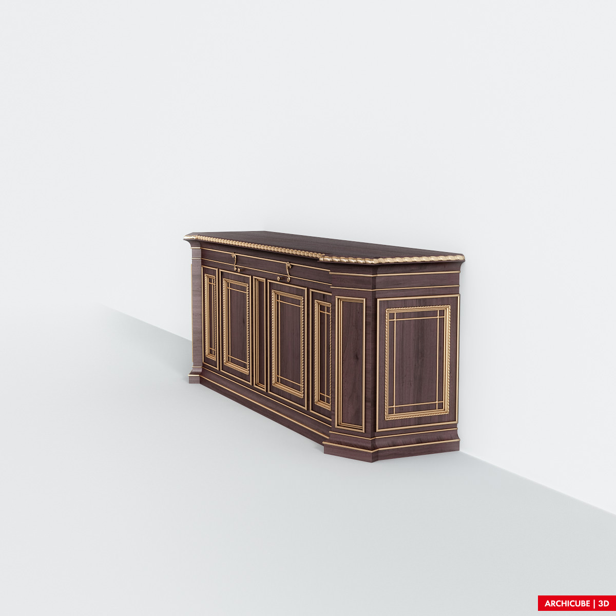 Classic commode 3d model max obj fbx - Commode classique ...