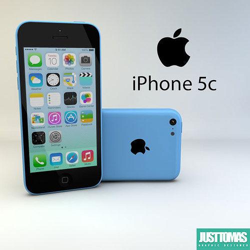 apple iphone 5c 3d model obj 3ds c4d stl 1