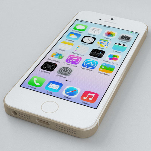 iphone 5s gold. apple iphone 5s gold 3d model max obj fbx c4d 27