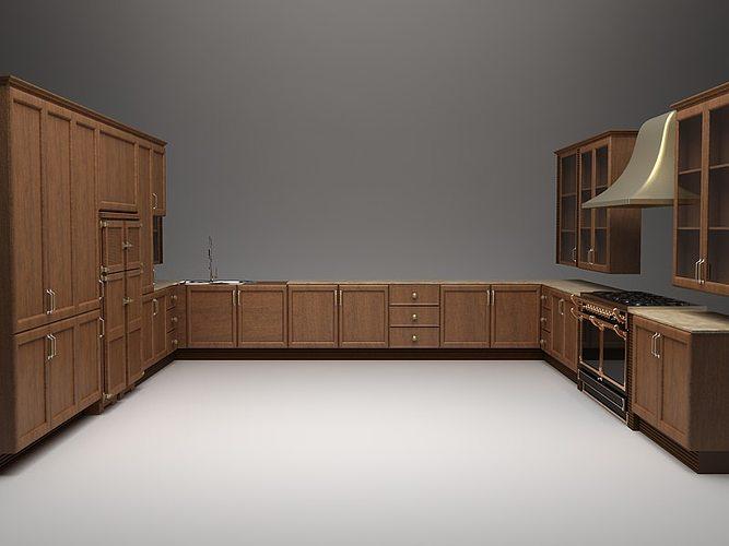 Kitchen Cabinets Ideas complete kitchen cabinets Complete Kitchen Cabinets Appliances 3D Model MAX | CGTrader.com