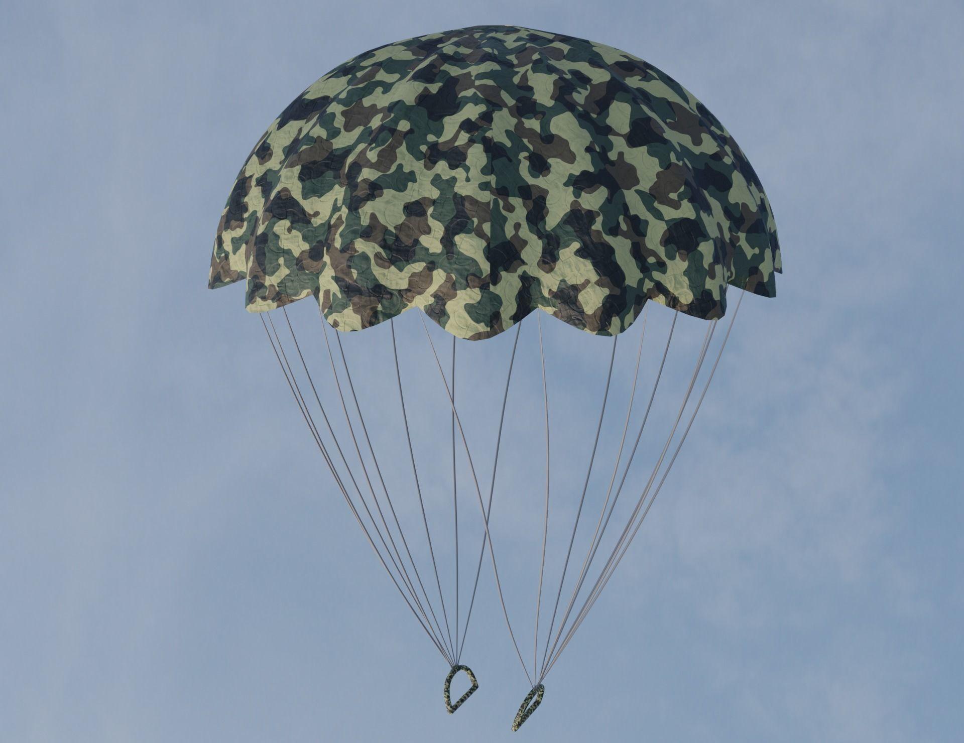 Military parachute 3D model