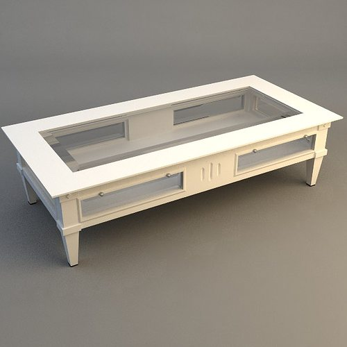 3d Model Low Coffee Table Cgtrader