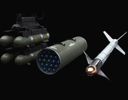3D model Aircraft Weapons with Marines Textures