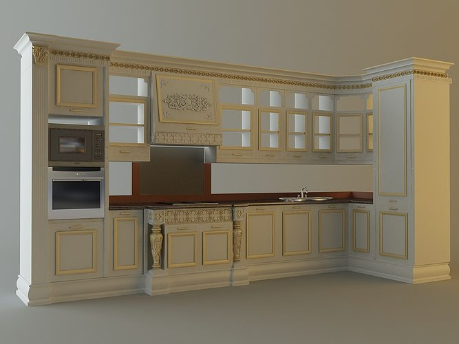 Kitchen Cabinets Appliances 28663 3D | CGTrader
