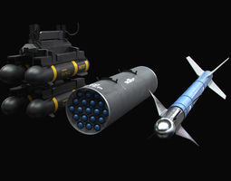 Aircraft Weapons with Army Textures 3D