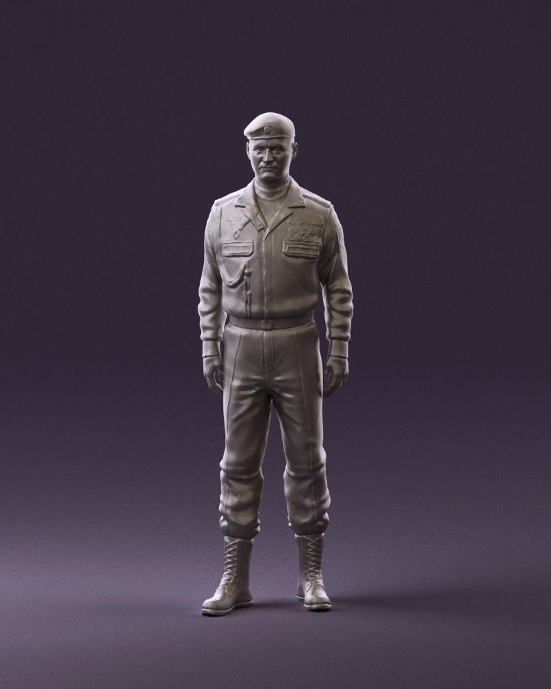 Man in russian military uniform 0896 3D Print Ready