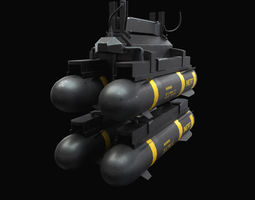 3D model Hellfire Missiles with Army Textures