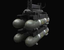3d model hellfire missiles with marines textures