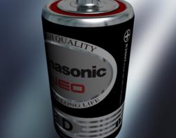 Battery size-D 3D model