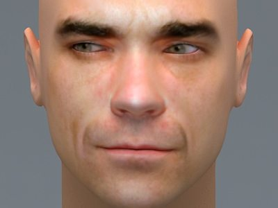 Robbie williams 3d model max 3ds for 3ds max face modeling
