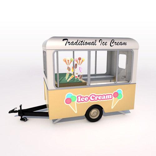 ice cream trailer 3d model max obj mtl 3ds fbx c4d ma mb 1