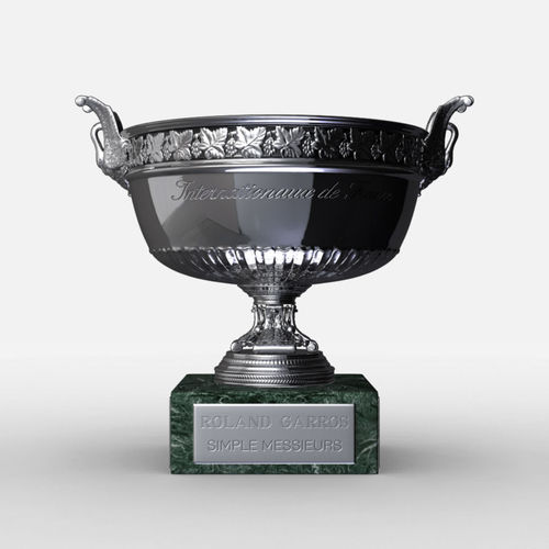 roland garros mens trophy 3d model max obj mtl 3ds fbx c4d ma mb 1