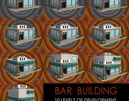 BAR all 10 levels 3D asset