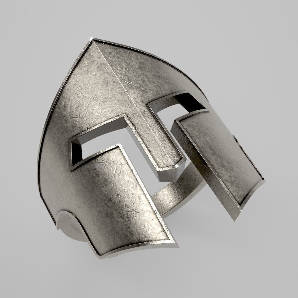 Spartan Helmet Ring 01