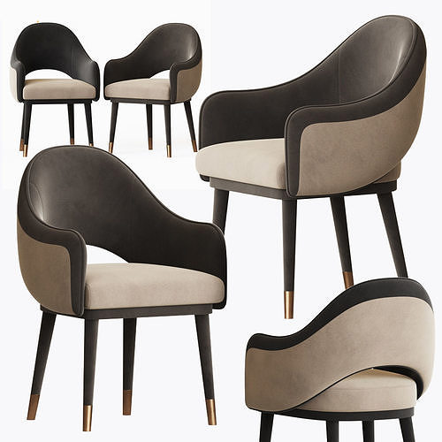 Black and White Dining Armchair Armrest